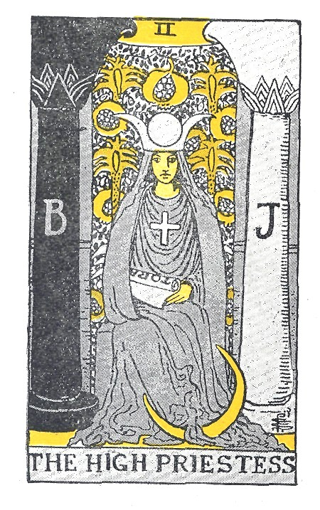 The high priestress in tarot