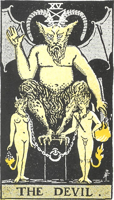 the devil, tarot reading, tarot cards